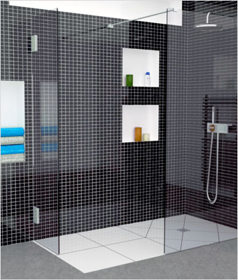 r novation de la salle de bain remplacer la douche. Black Bedroom Furniture Sets. Home Design Ideas