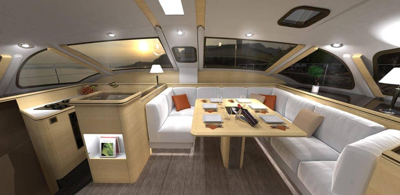 Louez un catamaran de la gamme privil ge for Bateau de luxe interieur