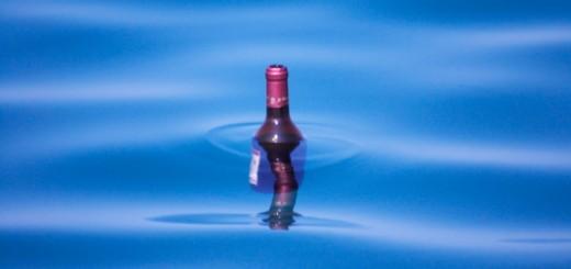vin bio dans mer
