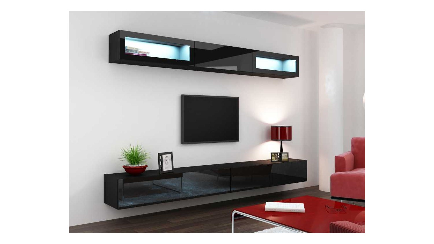Meuble sous tv suspendu amiens design - Meuble tv suspendu but ...