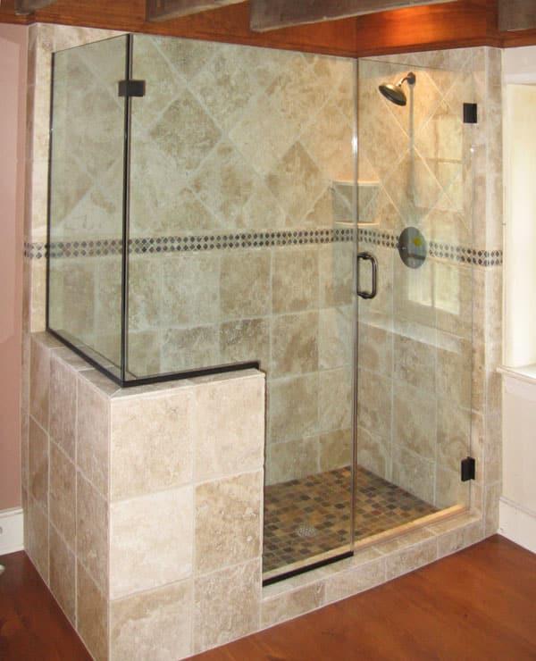 la bu e sur les parois de douche. Black Bedroom Furniture Sets. Home Design Ideas