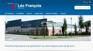 Page d'accueil du site de Léo-francois