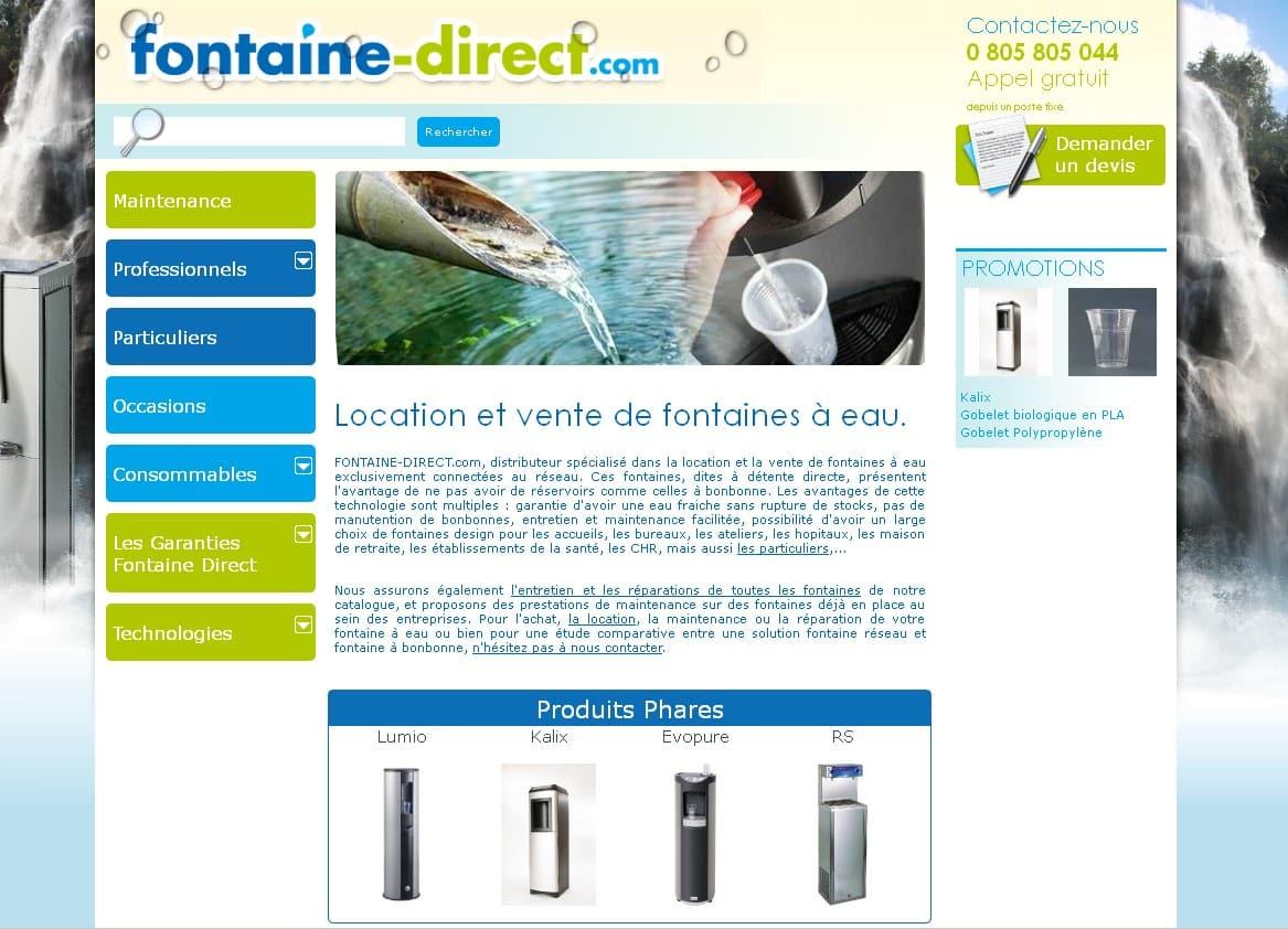 Les avantages des fontaines à eau sur réseau