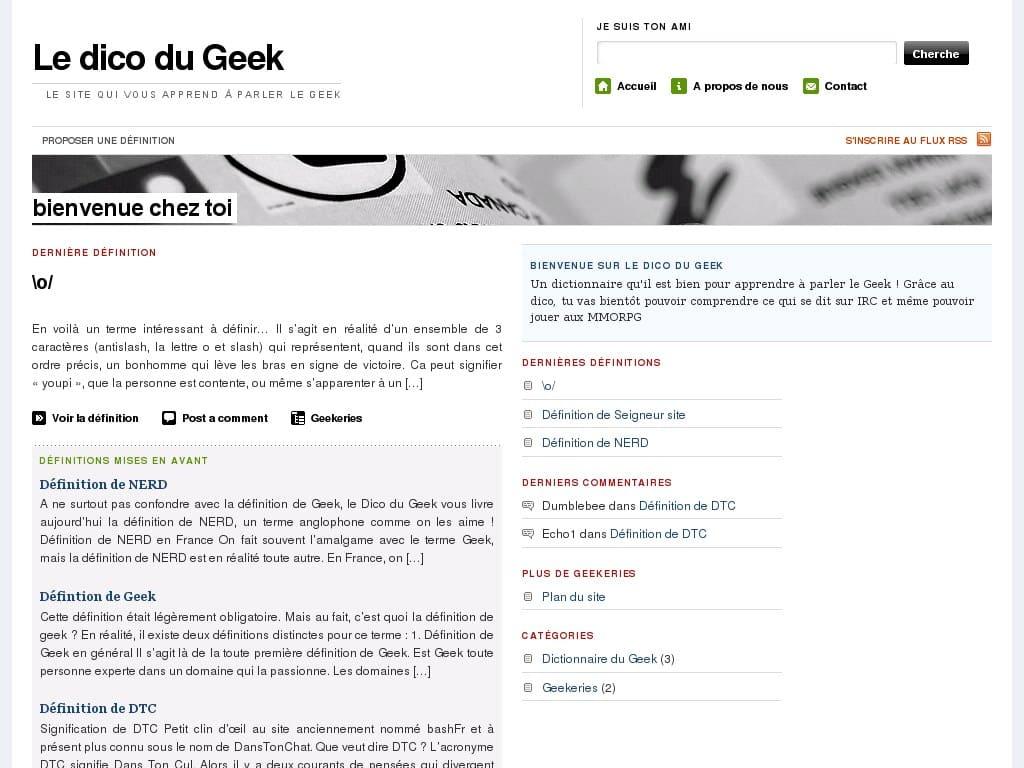 Dictionnaire Geek