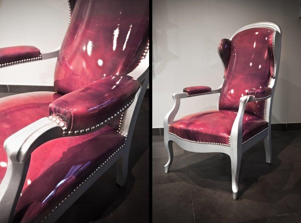 relooker un fauteuil voltaire en quatre tapes. Black Bedroom Furniture Sets. Home Design Ideas