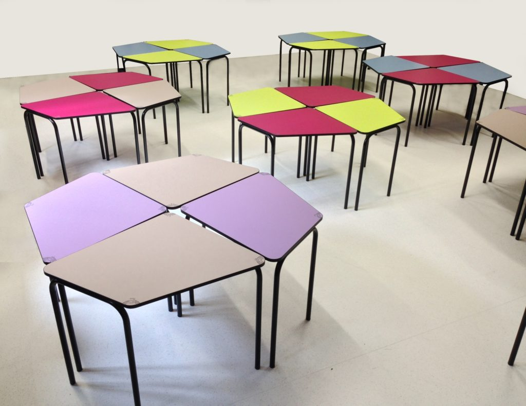 Mobilier scolaire de demain adapté au nouveau mode d'enseignement