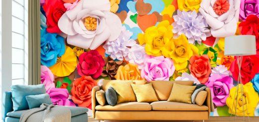 papier peint fleurs