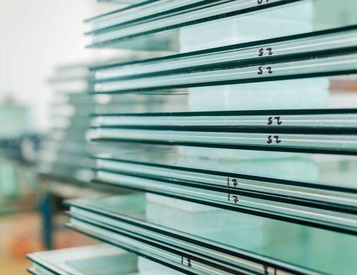 Diverses couches de verre anti effraction