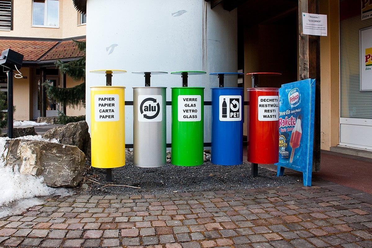 Recyclage des déchets par catégorie