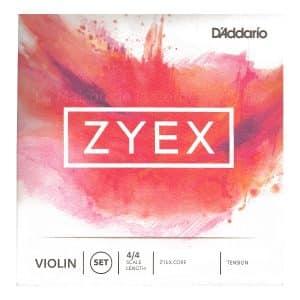 Cordes de violon d'addario Zyex